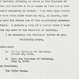 Letter: 1943 August 12