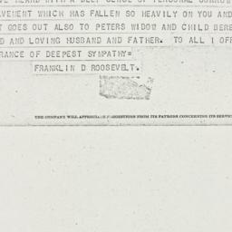 Telegram: 1944 April 11
