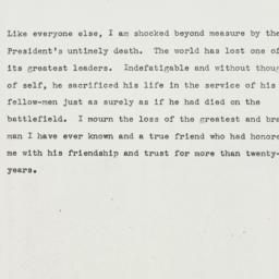 Press Release: 1945 April 12
