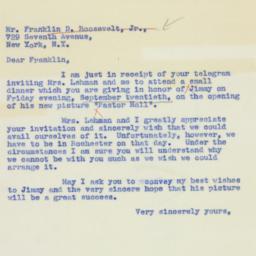 Letter : 1940 September 16