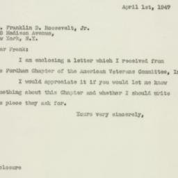 Letter : 1947 April 1
