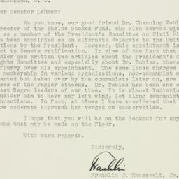 Letter : 1951 September 17