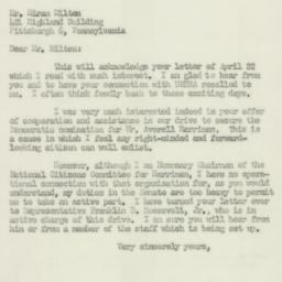 Letter : 1952 April 28