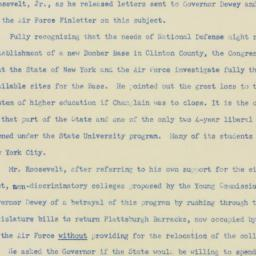 Press release : 1952 May 26