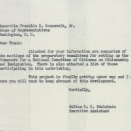 Letter : 1954 May 18