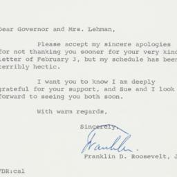 Letter : 1963 March 6