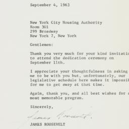 Letter : 1963 September 4