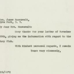 Letter : 1931 December 1