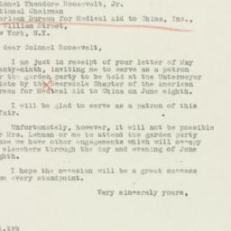 Letter : 1940 June 2