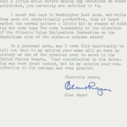 Letter : 1957 January 15