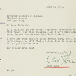 Letter : 1941 June 6