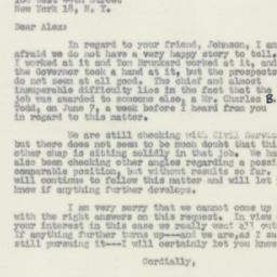 Letter : 1950 June 29