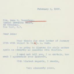 Letter : 1937 February 2