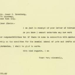 Letter : 1926 February 15