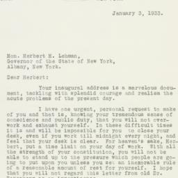 Letter : 1933 January 3