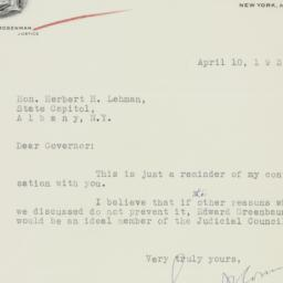 Letter : 1934 April 10