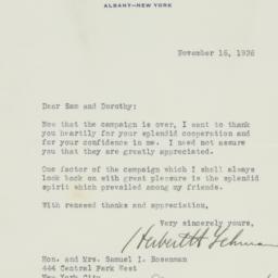 Letter : 1936 November 16