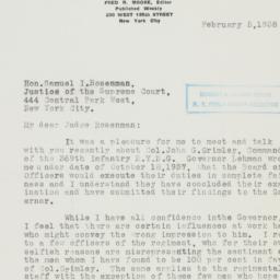 Letter : 1938 February 5
