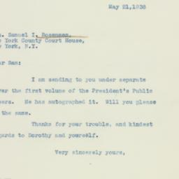 Letter : 1938 May 21
