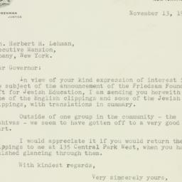 Letter : 1939 November 13