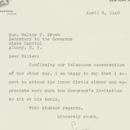 Letter : 1940 April 9