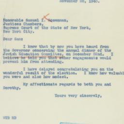 Letter : 1940 November 26