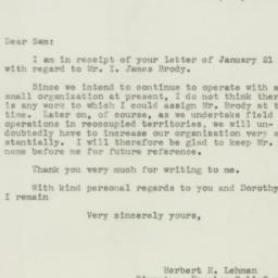 Letter : 1943 January 23