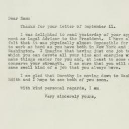 Letter : 1943 September 16