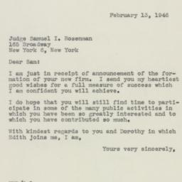 Letter : 1946 February 13