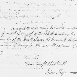 Document, 1779 January 31