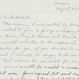 Letter : 1949 August 16