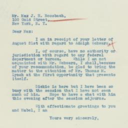 Letter : 1933 August 24