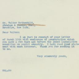 Letter : 1939 March 14