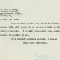 Letter : 1931 October 27