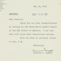 Letter : 1951 May 18