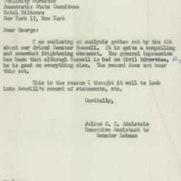 Letter : 1952 April 10
