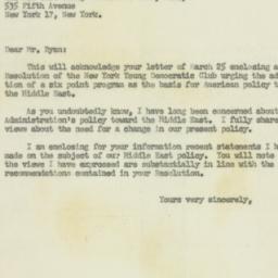 Letter : 1956 April 5
