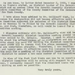 Letter : 1961 January 2