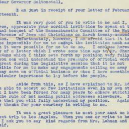 Letter : 1939 February 20