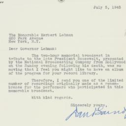 Letter : 1945 July 5