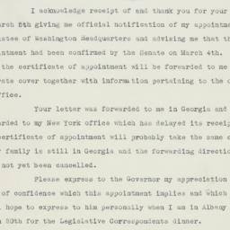 Letter : 1941 March 11