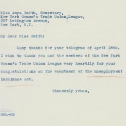 Letter : 1935 April 27