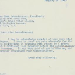 Letter : 1937 January 16
