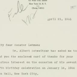 Letter : 1951 April 21