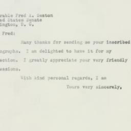 Letter : 1952 July 7