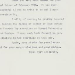 Letter : 1958 February 28