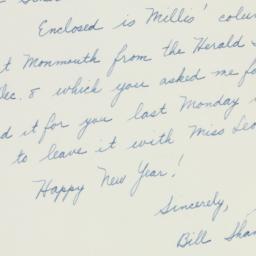 Letter : 1953 December 30
