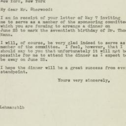 Letter : 1945 May 11