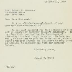 Letter : 1949 October 14