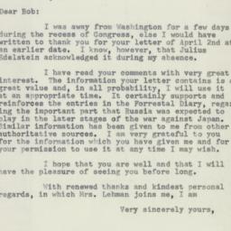 Letter : 1955 April 12